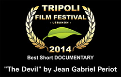 "award best short documentary ""The Devil"" by Jean Gabriel Periot"