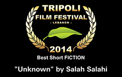 "award best short fiction ""Unknown"" by Salah Salahi"